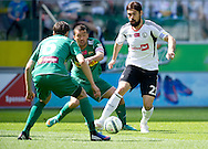 (R) Legia's Ivica Vrdoljak fights for the ball with (C) Lechia's Lukasz Surma during T-Mobile Extraleague soccer match between Legia Warsaw and Lechia Gdansk at Pepsi Arena in Warsaw, Poland...Poland, Warsaw, May 05, 2013..Picture also available in RAW (NEF) or TIFF format on special request...For editorial use only. Any commercial or promotional use requires permission...Photo by © Adam Nurkiewicz / Mediasport