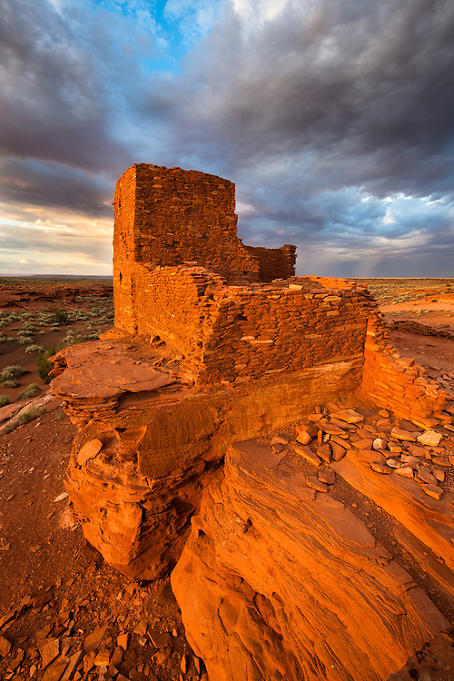 Wukoki Pueblo, an Ancestral Puebloan ruin at Wupatki National Monument in northern Arizona.