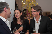 HELEN THORPE; ANTHONY WILKINSON, Valeria Napoleone hosts a dinner at her apartment e to celebrate the publication of her book  Valeria Napoleone's Catalogue of Exquisite Recipes. Palace Green. Kensington. London. 28 September 2012.