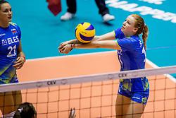 22-08-2017 NED: World Qualifications Slovenia - Bulgaria, Rotterdam<br /> Bulgaria win 3-1 against Slovenia / Ela Pintar #15 of Slovenia