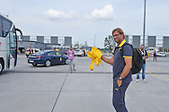 Jurgen Klopp trainer coach of Dorussia Dortmund on Wroclaw's airport before international friendly soccer match between WKS Slask Wroclaw and BVB Borussia Dortmund on Municipal Stadium in Wroclaw, Poland.<br /> <br /> Poland, Wroclaw, August 6, 2014<br /> <br /> Picture also available in RAW (NEF) or TIFF format on special request.<br /> <br /> For editorial use only. Any commercial or promotional use requires permission.<br /> <br /> Mandatory credit:<br /> Photo by © Adam Nurkiewicz / Mediasport