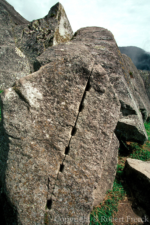 PERU, PREHISPANIC, INCA Machu Picchu; a stone in quarry