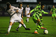 Forest Green Rovers Keanu Marsh-Brown(7) on the ball during the FA Trophy match between Truro City and Forest Green Rovers at Treyew Road, Truro, United Kingdom on 13 December 2016. Photo by Shane Healey.