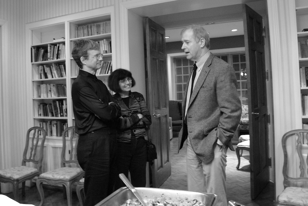 William Logan (poet and critic at the University of Florida), Debora Greger (poet at the University of Florida), and Wyatt Prunty (poet, critic, and director of the Sewanee Writers' Conference).