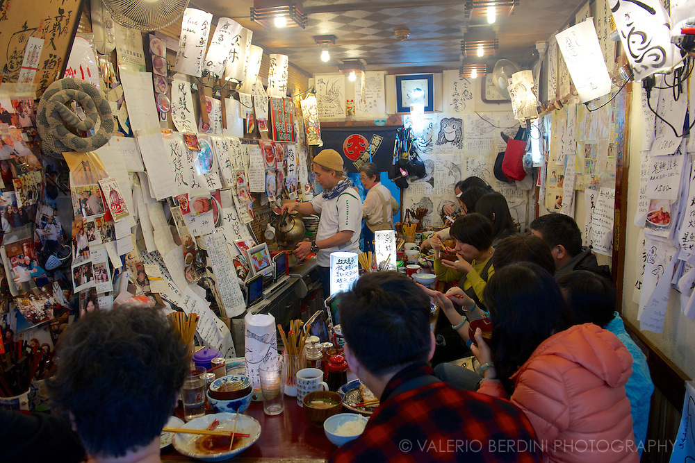 A workers' cafe in the Tsukiji market. Tokyo, Japan 2013.