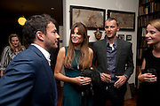 GILES COREN; JEMIMA KHAN; JOHN BATSEK; MRS. ALAIN DE BOTTON, , Freud Museum dinner, Maresfield Gardens. 16 June 2011. <br /> <br />  , -DO NOT ARCHIVE-© Copyright Photograph by Dafydd Jones. 248 Clapham Rd. London SW9 0PZ. Tel 0207 820 0771. www.dafjones.com.