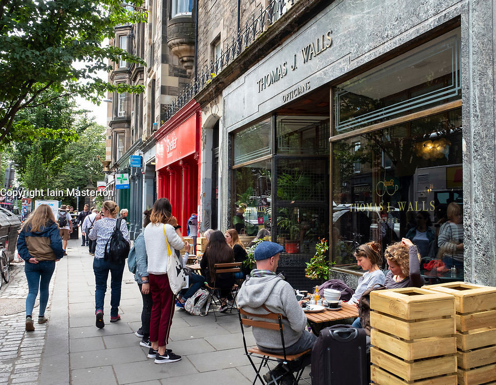 Exterior of Union of Thomas J Walls cafe  in Old Town of Edinburgh, Scotland, UK