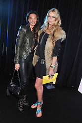 Left to right, LILLY BECKER and JODIE KIDD at a party to celebrate the launch of the new 2&8 club at Morton's Berkeley Square, London on 27th September 2012.