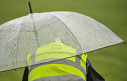 Photographer takes cover during junior championship play-off.<br /> Pic Conor McKeown