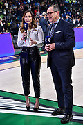 Giulia Cicchinè, Egidio Bianchi<br /> Umana Reyer Venezia - Happycasa Brindisi<br /> Finale<br /> LBA Legabasket Serie A Final 8 Coppa Italia 2019-2020<br /> Pesaro, 16/02/2020<br /> Foto L.Canu / Ciamillo-Castoria