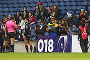A touchline tussle spills into the crowd during the European Rugby Challenge Cup match between Edinburgh Rugby and Cardiff Blues at BT Murrayfield Stadium, Edinburgh, Scotland on 31 March 2018. Picture by Kevin Murray.