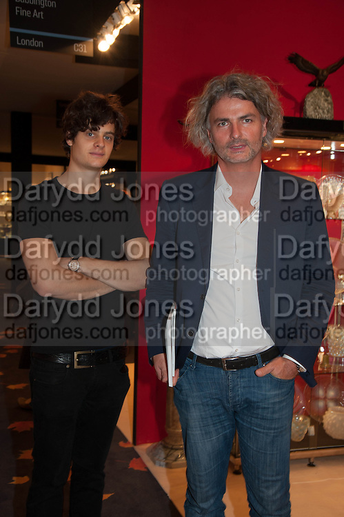 Akos Kieselbach (left) and Jabor Einspach (right) at the Opening of The LAPADA  Art and Antiques Fair. Berkeley Sq. London. 24 September 2013.