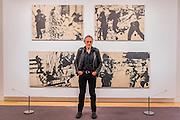 Peter Kennard: Unofficial War Artist - Retrospective Exhibition of British Political and anti-war artist at IWM London, UK 12 May 2015