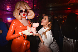 Pandemonia and Liza Owen at the Maybelline New York Bring on The Night party hosted by Adriana Lima & Jourdan Dunn at Scotch of St.James, 13 Masons Yard, England. 18 February 2017.