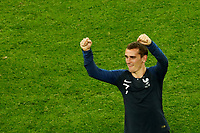 SAINT PETERSBURG, RUSSIA - JULY 10: Antoine Griezmann of France national team celebrates victory during the 2018 FIFA World Cup Russia Semi Final match between France and Belgium at Saint Petersburg Stadium on July 10, 2018 in Saint Petersburg, Russia. MB Media