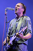 Win Butler of The Arcade Fire performs live on the Main stage during day Two of Reading Festival on August 28, 2010 in Reading, England.  (Photo by Simone Joyner)