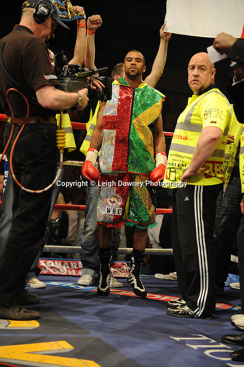 Rendall Munroe defeats Victor Terrazas for the WBC Super-Bantamweight Title Eliminator at Coventry Skydome, Coventry, United Kingdom on 23rd April 2010. Frank Maloney Promotions.Photo credit: © Leigh Dawney