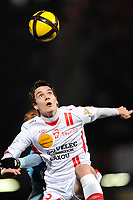 FOOTBALL - FRENCH CHAMPIONSHIP 2010/2011 - L1 - AS NANCY v OLYMPIQUE MARSEILLE - 27/02/2011 - PHOTO GUILLAUME RAMON / DPPI - <br /> BENJAMIN JEANNOT (NANCY)