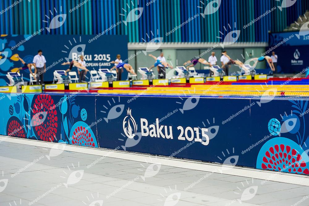 Start<br /> 50 Freestyle Women Heats Swimming <br /> 1st European Olympic Games <br /> Baku Azerbaijan 12-28/06/2015<br /> Photo Andrea Masini/Deepbluemedia/Insidefoto