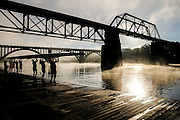 KNOXVILLE,TN - OCTOBER 07, 2015 - Rowing practice along the Tennessee River in Knoxville, TN.  Photo By Craig Bisacre/Tennessee Athletics