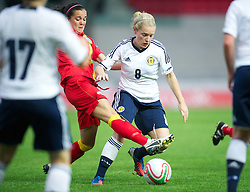 LLANELLI, WALES - Saturday, September 15, 2012: Scotland's Kim Little in action against Wales during the UEFA Women's Euro 2013 Qualifying Group 4 match at Parc y Scarlets. (Pic by David Rawcliffe/Propaganda)