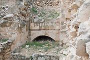 Israel, West Bank, Judaea, Herodion a castle fortress built by King Herod 20 B.C.E. Remains of the main entrance