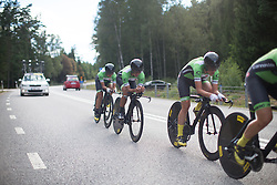 Carmen Small (USA) of Cylance Pro Cycling digs deep during the 42,5 km team time trial of the UCI Women's World Tour's 2016 Crescent Vårgårda women's road cycling race on August 19, 2016 in Vårgårda, Sweden. (Photo by Balint Hamvas/Velofocus)