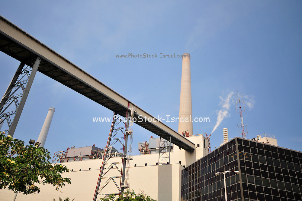 Israel, Hadera, The Orot Rabin coal operated power plant Photographed from within the facility