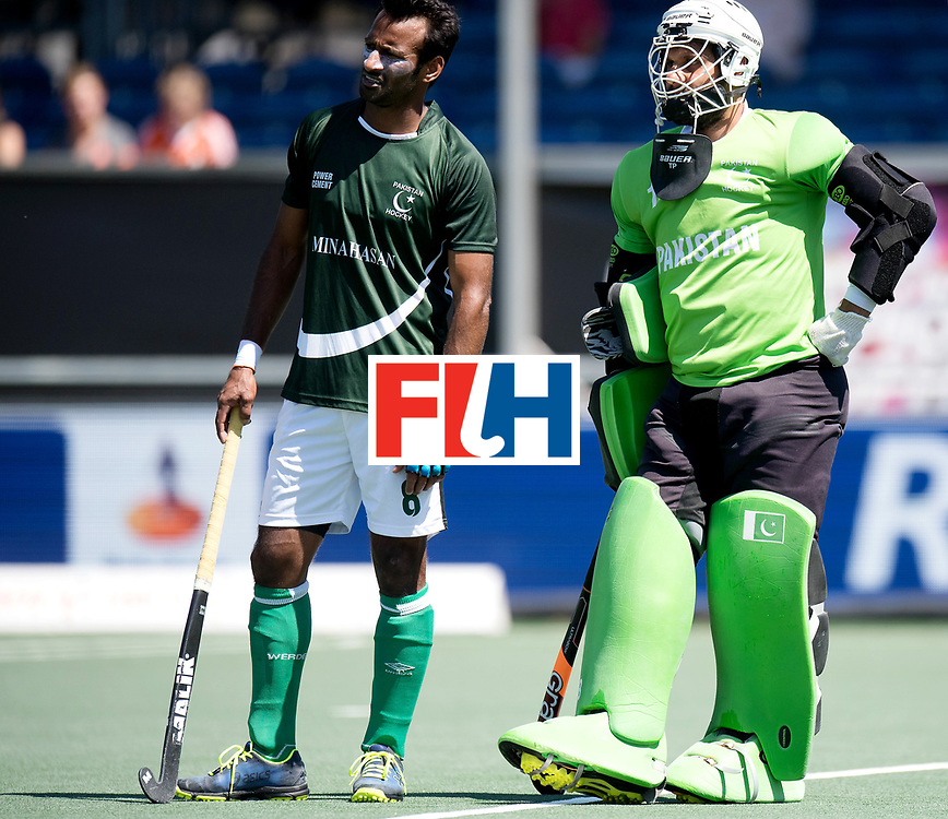 BREDA - Rabobank Hockey Champions Trophy<br /> 5th/6th place Belgium - Pakistan<br /> Photo: IRFAN Muhammad and Imran Butt.<br /> COPYRIGHT WORLDSPORTPICS FRANK UIJLENBROEK