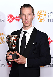Benedict Cumberbatch in the press room during the Virgin Media BAFTA TV awards, held at the Royal Festival Hall in London. Photo credit should read: Doug Peters/EMPICS