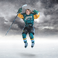 Regina Cougars' Women's Hockey forward Kylie Gavelin with the celly!