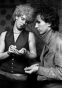 Photo of U2 Adam Clayton and The Edge at Hotel in Atlanta - USA tour photosessions December 1981