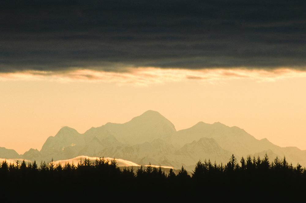 Alaska. Glacier Bay NP. Mt Fairweather , highest peak in the Fairweather Range.