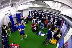 Robert Sabolic in wardrobe at first practice of Slovenian National Ice hockey team before World championship of Division I - group B in Ljubljana, on April 5, 2010, in Hala Tivoli, Ljubljana, Slovenia.  (Photo by Vid Ponikvar / Sportida)