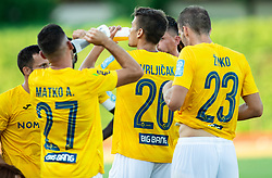 Ante Vrljičak of Bravo, center, during football match between NK Bravo and NK Aluminij in 5th Round of Prva liga Telekom Slovenije 2019/20, on August 9, 2019 in Sports park ZAK, Ljubljana, Slovenia. Photo by Vid Ponikvar / Sportida