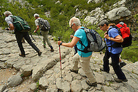 Hikers, Paklenica National Park, Velebit Nature Park, Rewilding Europe rewilding area, Velebit  mountains, Croatia