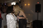 Bianca Jagger and Jerry Hall. An evening at Sanderson in aid of Sargent Cancer Care for children. Sanderson Hotel. 28 May 2002. © Copyright Photograph by Dafydd Jones 66 Stockwell Park Rd. London SW9 0DA Tel 020 7733 0108 www.dafjones.com
