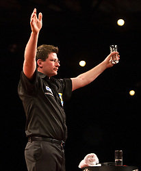 James Wade wins..2010 Whyte & MacKay Premier League Darts week nine, Glasgow SECC..©2010 Michael Schofield. All Rights Reserved.