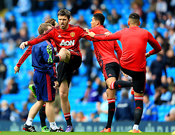 Michael Carrick of Manchester United warms up - Mandatory byline: Matt McNulty/JMP - 20/03/2016 - FOOTBALL - Etihad Stadium - Manchester, England - Manchester City v Manchester United - Barclays Premier League