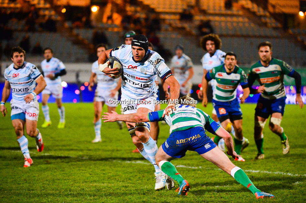 Juandre KRUGER / Joe CARLISLE  - 18.01.2015 - Racing Metro 92 / Trevise - European Champions Cup<br /> Photo : Dave Winter / Icon Sport