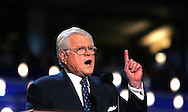A 24 MG IMAGE OF:.Senator Edward Kennedy speaks.at the Democratic Convention in Boston, MA.  Photo by Dennis Brack