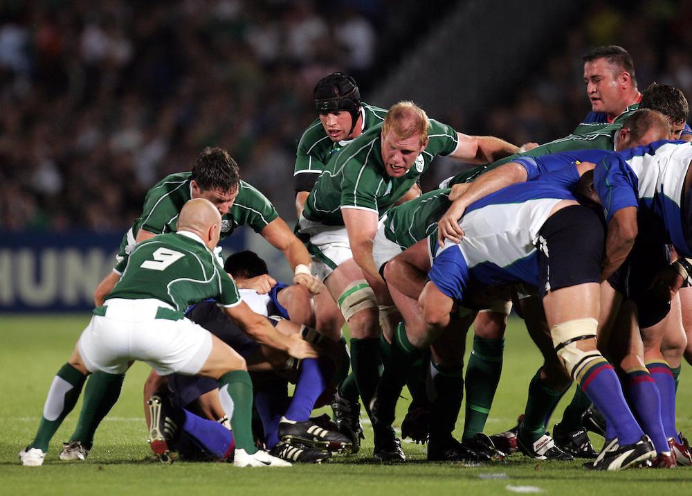 Paul O'Connell of Ireland. Ireland v Namibia, Bordeaux, 9th September 2007.