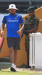 July 25, 2017 - Galle, Sri Lanka - Indian cricket captain Virat Kohli  walks in the ground after a press conference  to take part in a practice session ahead of the 1st test match between Sri Lanka and India at Galle International cricket stadium, Galle, Sri Lanka on Tuesday 25 July 2017  (Credit Image: © Tharaka Basnayaka/NurPhoto via ZUMA Press)