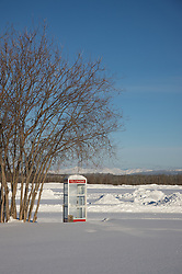 With no cell service, telephone booths are still useful in the Arctic Circle.