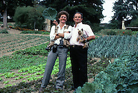 Owen Franken w Paul Bocuse, in his garden-1983