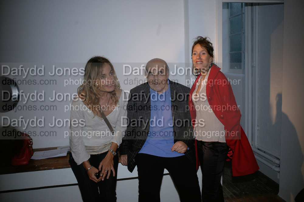 DEDE DELLAL, ( HIS WIFE)  JACK DELLAL AND Ruanne  Dellal ,  Twenty Hoxton Square. Opening exhibition of new gallery at Twenty Hoxton Square. -DO NOT ARCHIVE-© Copyright Photograph by Dafydd Jones. 248 Clapham Rd. London SW9 0PZ. Tel 0207 820 0771. www.dafjones.com.