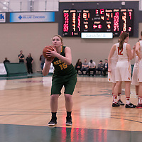 2nd year forward Alexi Rowden (15) of the Regina Cougars in action during the home game on January  28 at Centre for Kinesiology, Health and Sport. Credit: Arthur Ward/Arthur Images
