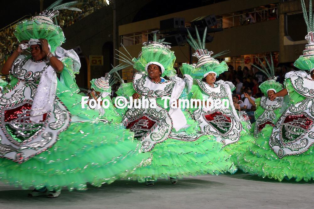 02.03.2003, Rio de Janeiro, Brazil..Carnaval 2003 - Desfile das Escolas de Samba, Grupo de Acesso A / Carnival 2003 - Parades of the Samba Schools..Desfile de / Parade of:  GRES Acadmicos da Rocinha.Theme of the parade was the centenary of Fluminense FC..©Juha Tamminen