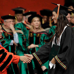 More than 900 graduates received degrees during the University of Miami's 2013 fall commencement at the BankUnited Center.