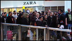 Shoppers queue for the Next Sale at Westfield Shopping Centre in Stratford, East London looking for bargains in the Boxing Day Sales, Monday December 26, 2011. Photo By Andrew Parsons/i-Images